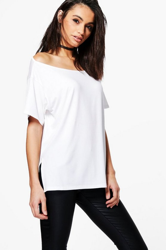 Alyssa Slash Neck T-Shirt