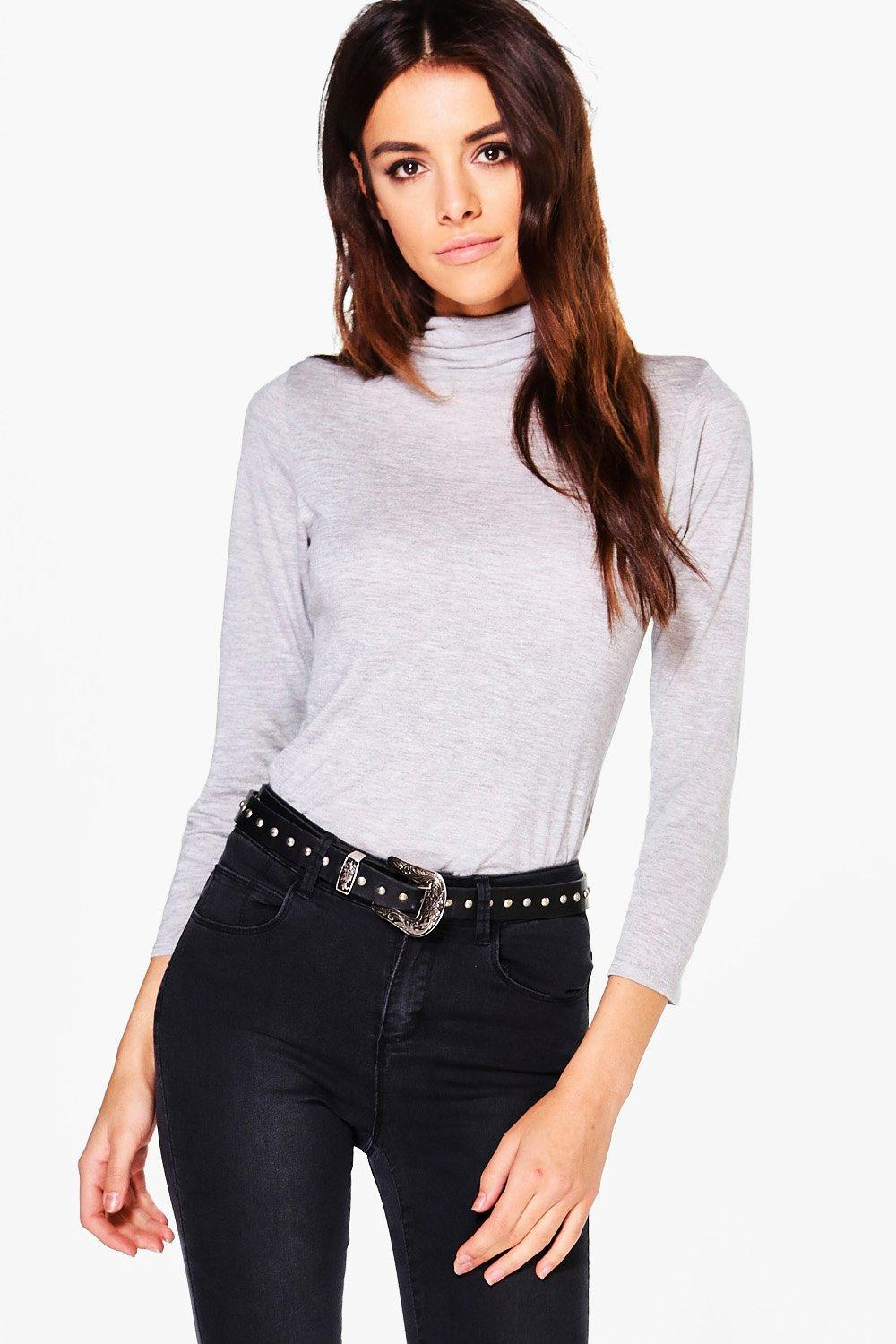 Sadie High Neck Long Sleeve Top