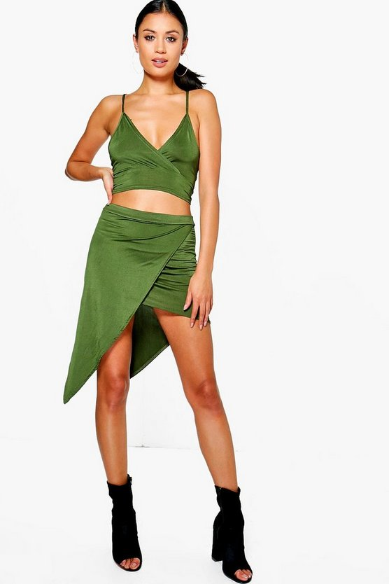 Marlin Slinky Wrap Skirt Bralet Co-Ord