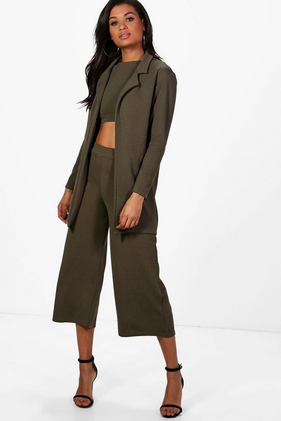 Misa 3pc Crop Culotte & L/S Duster