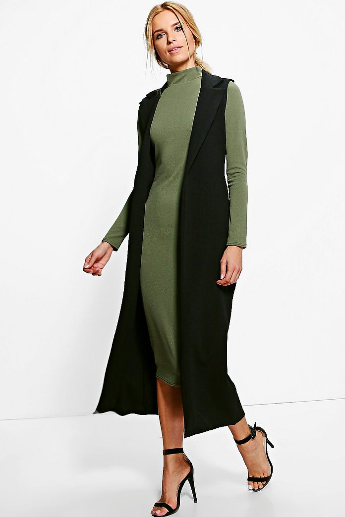 Ingrid Amy Contrast Duster & L/S Dress Co-Ord