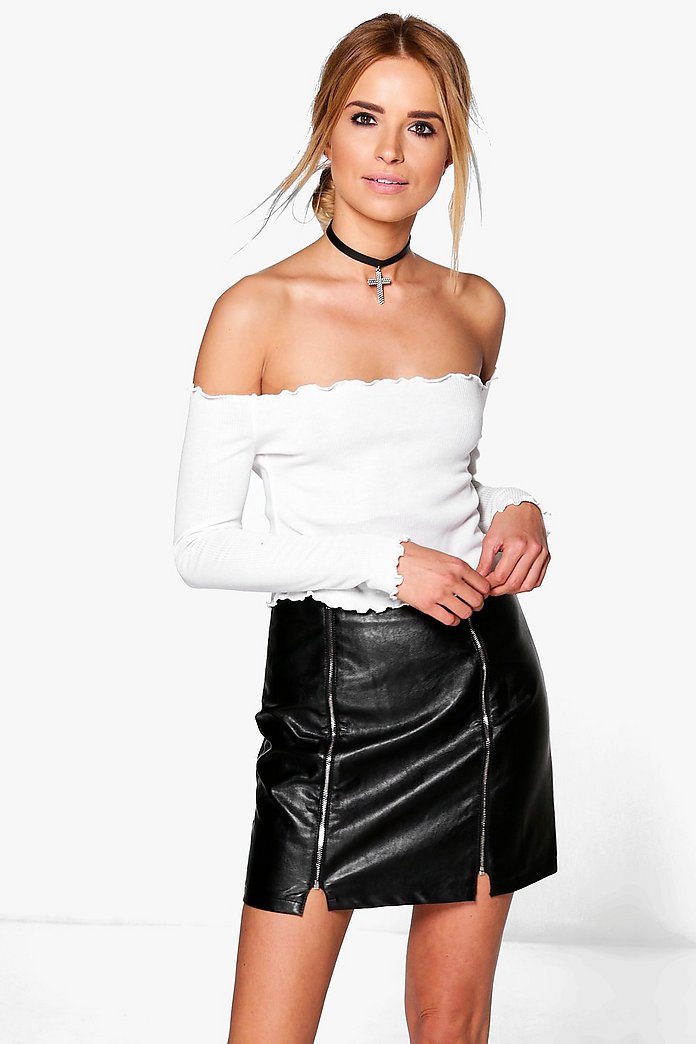 Ruby Rib Ruched Hem Crop