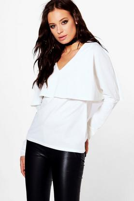 Penelope Double Layer Long Sleeve Top