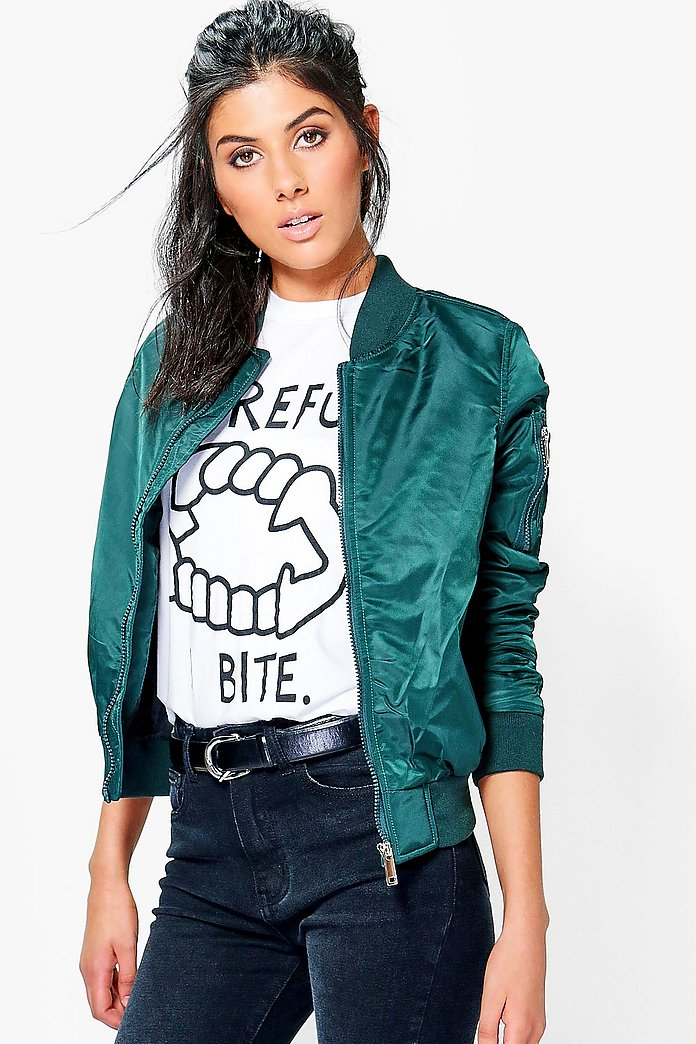 Harriet Bomber With Contrast Lining