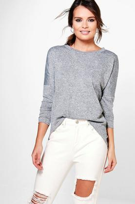 Gabriella Melange Knitted Top