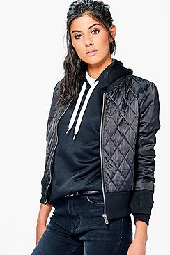 Lois Quilted Satin Finish Bomber