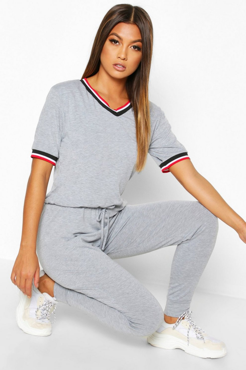 Cheap Best Seller Boohoo Sports Trim Jumpsuit Cheap Online Store Manchester Best Prices Cheap Online Clearance Pre Order YeJ3Ozyn