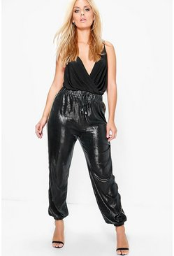 Jordyn Elasticated Cuff Side Stripe Lux Joggers