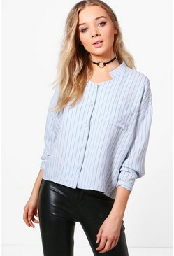Heather Pinstripe Long Sleeve Shirt