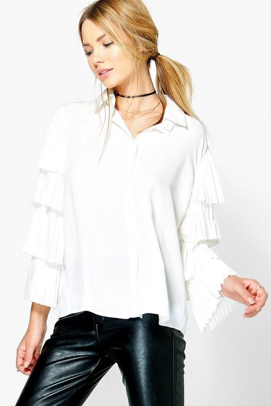 Alisha Ruffle Tiered Sleeve Shirt