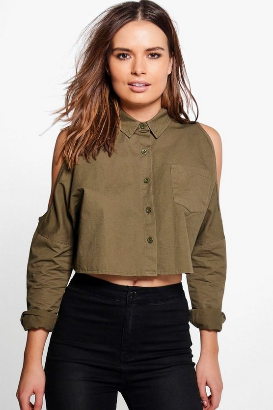 Vivian Cold Shoulder Utility Shirt
