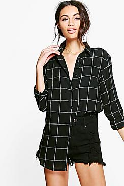 Peyton Back Trim Checked Shirt