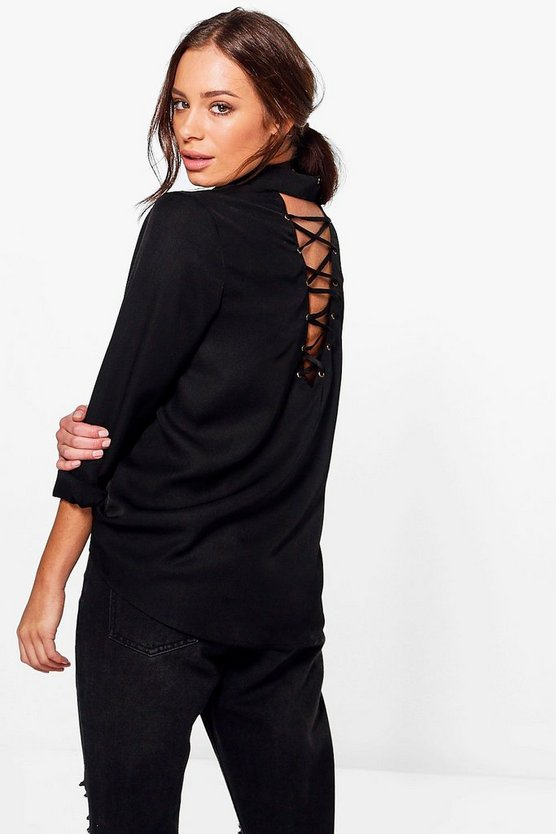 Savannah Lace Up Back Shirt