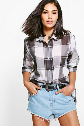 Maisie Large Check Oversized Shirt