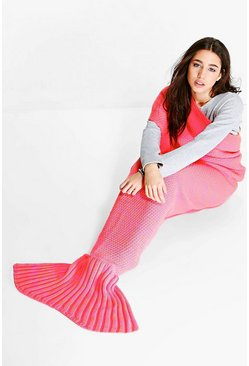 Twist Yarn Fluorescent Mermaid Tail Blanket