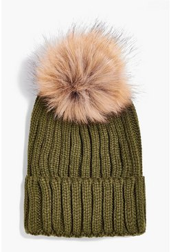 Matilda Detachable Faux Fur Pom Beanie Hat