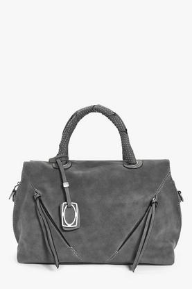 Bethany Studded Handle Zip Front Bowler Bag