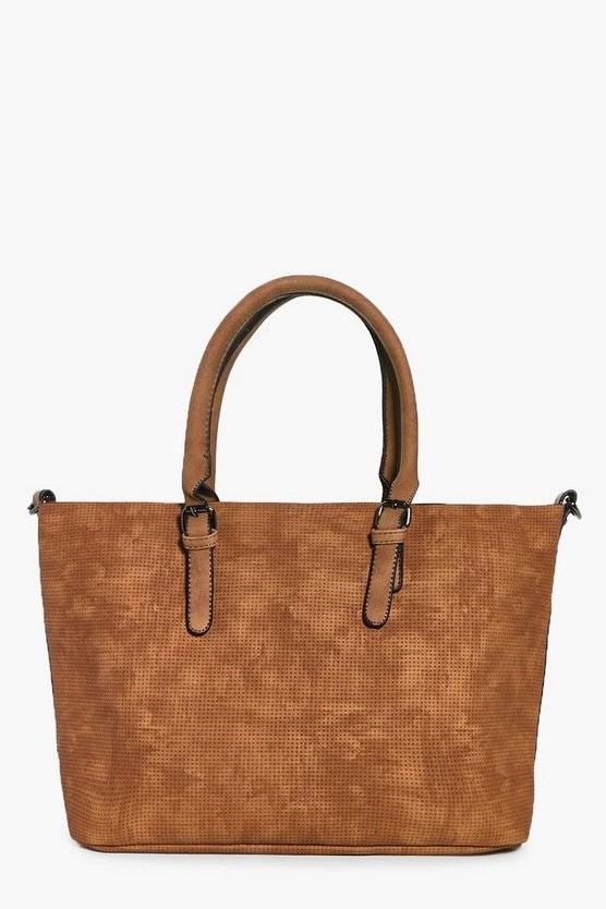 Georgia Perforated Metallic Lined Shopper Bag