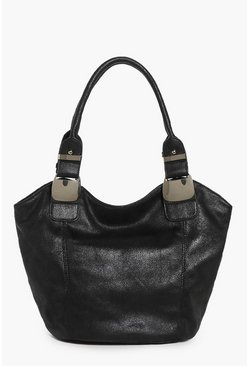 Eleanor Large Metal Strap Detail Shopper