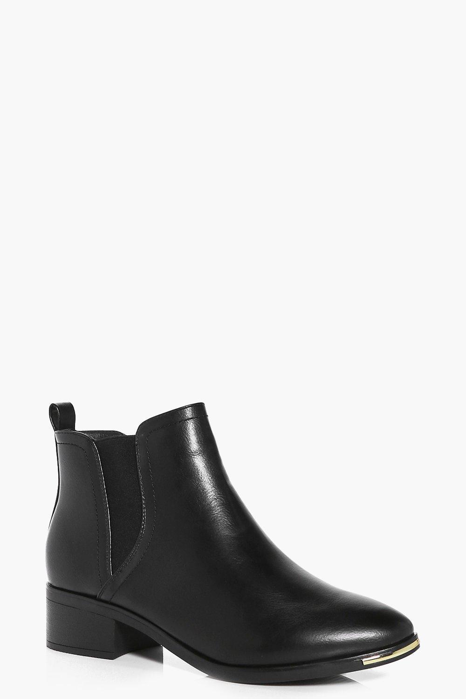 Amelia Gold Trim Chelsea Boots