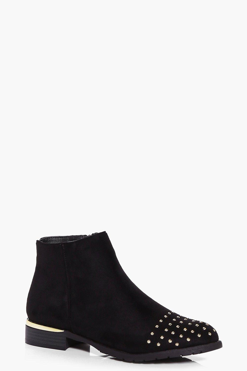 Rose Gold Trim Chelsea Boot
