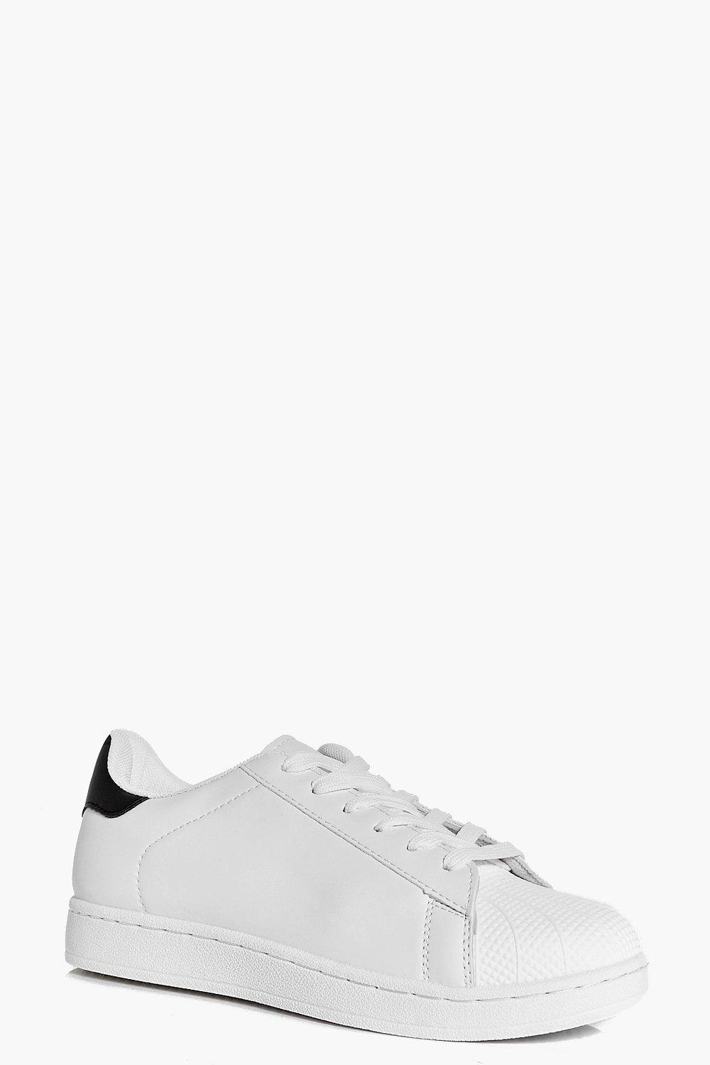 Tilly Contrast Back Lace Up Trainer