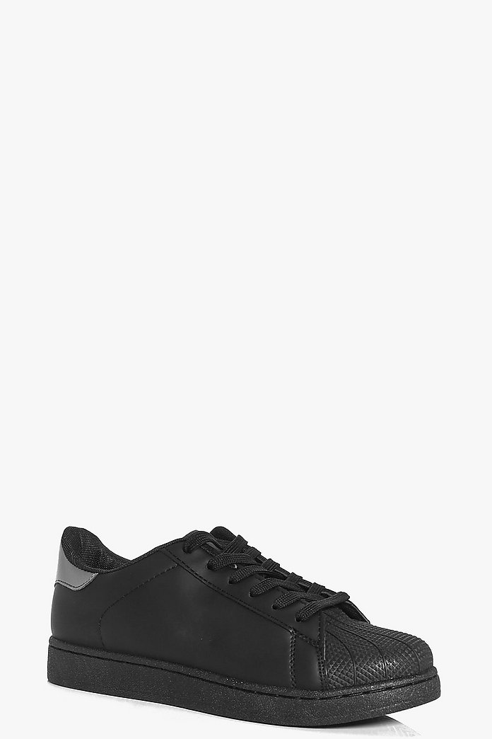 Aimee Contrast Back Lace Up Trainer