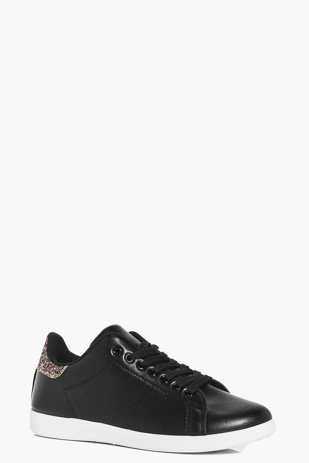 Mya Glitter Back Lace Up Trainer