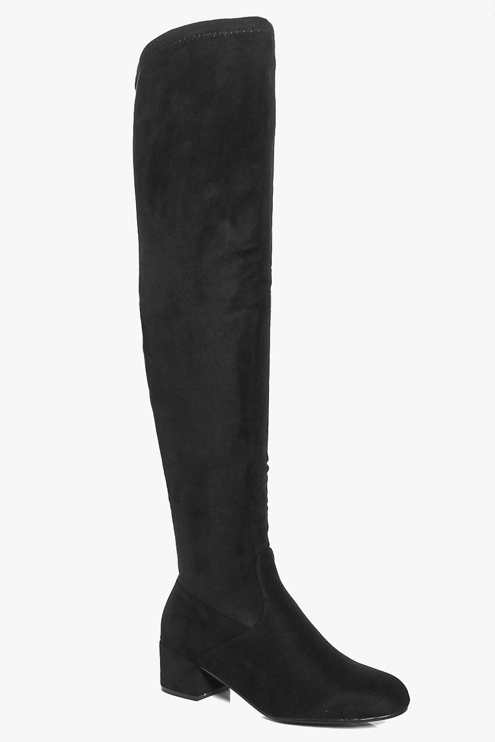 Lauren Low Block Heel Over the Knee Boot
