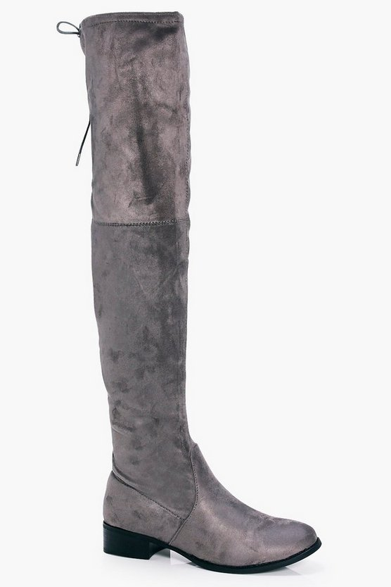 Heidi Tie Back Over The Knee Boot