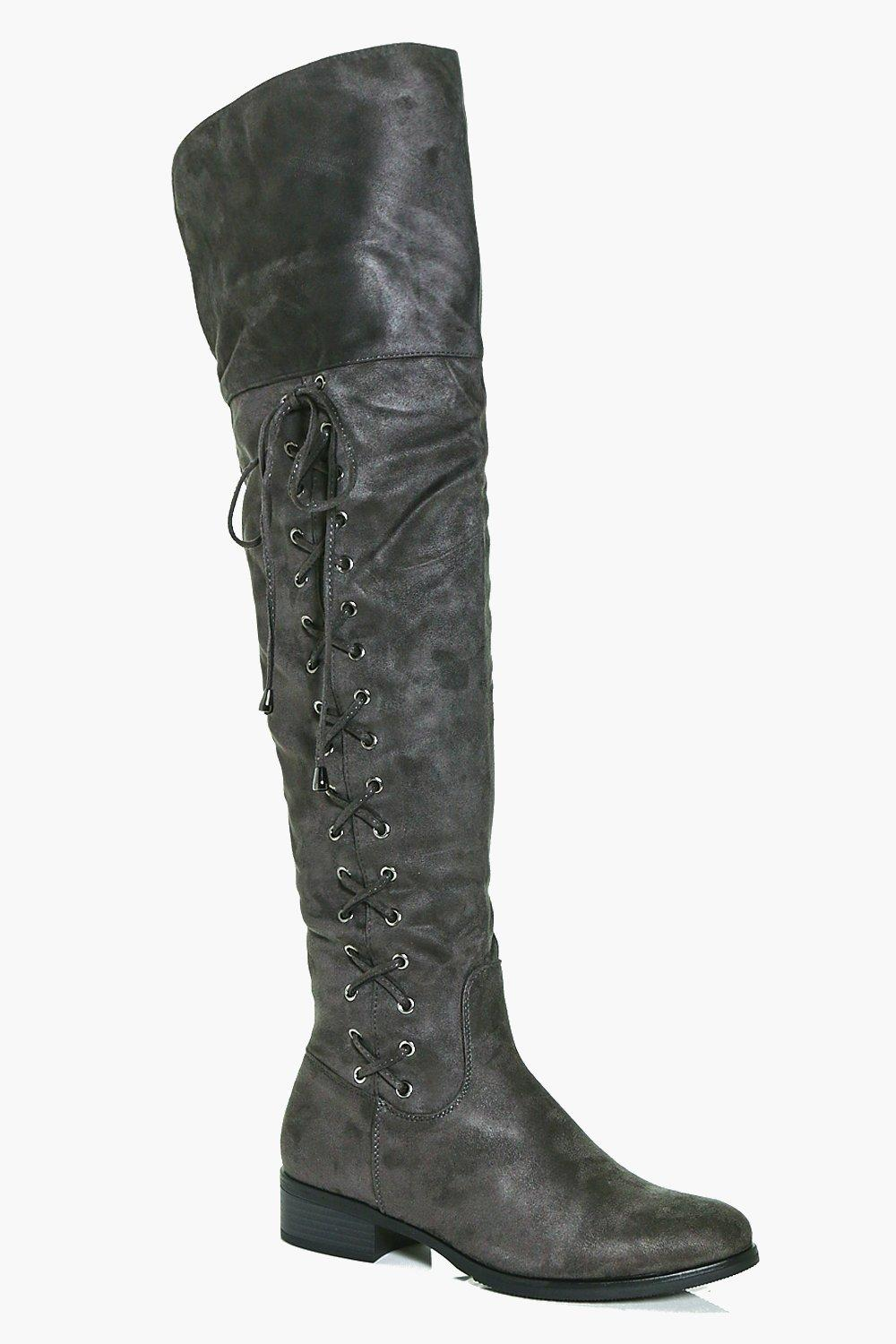 Nichole Lace Side Over The Knee Boot