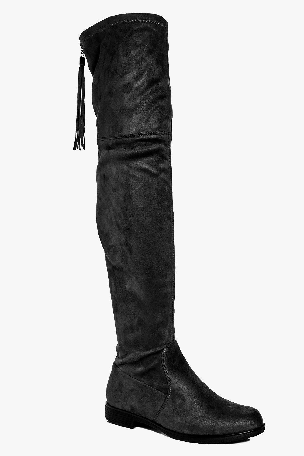 Lydia Tassel Back Over The Knee Boot