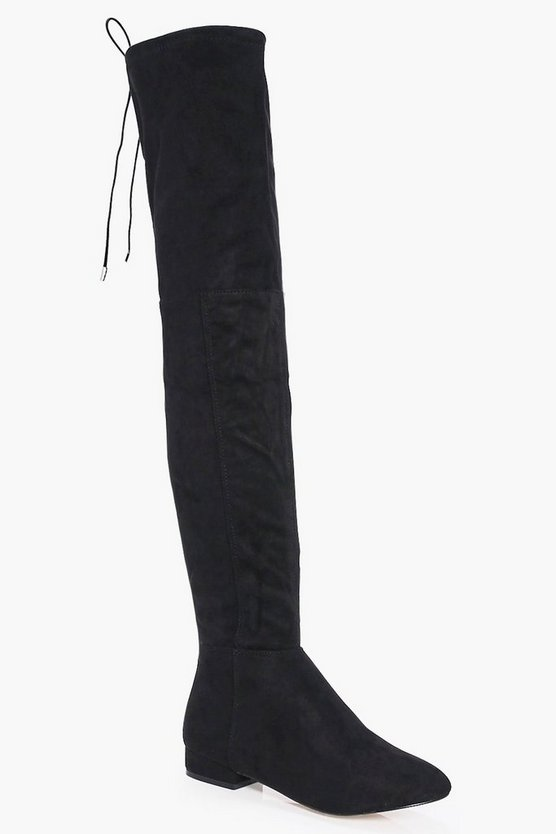 Maisy Tie Back Over The Knee Boot