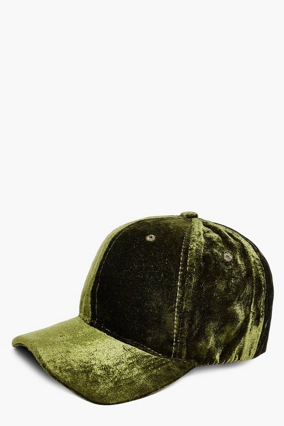 Hollie Velvet Baseball Cap