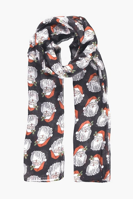 Eva Father Christmas Print Scarf