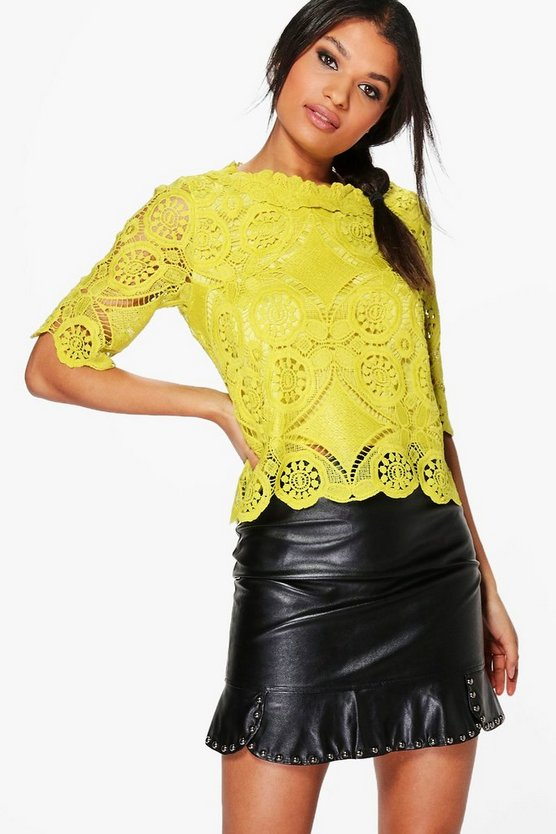 Evie Crochet Lace Shell Top