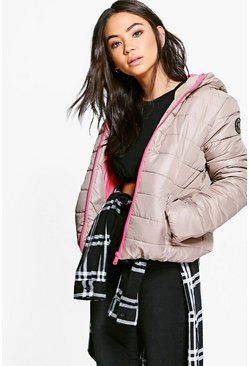 Isabella Quilted Jacket With Contrast Zipper