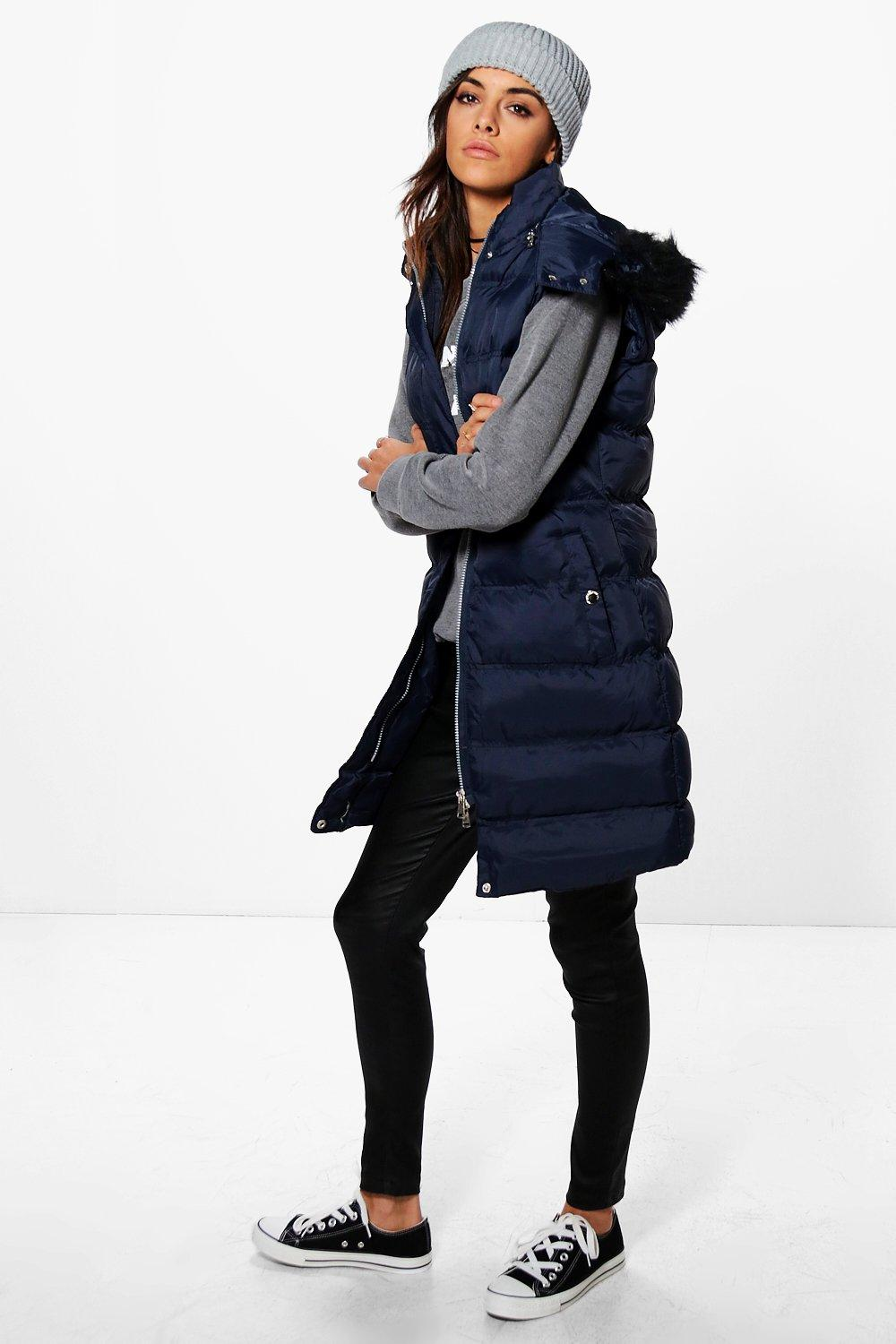 Victoria Sleeveless Padded Jacket With Zip Off Hood