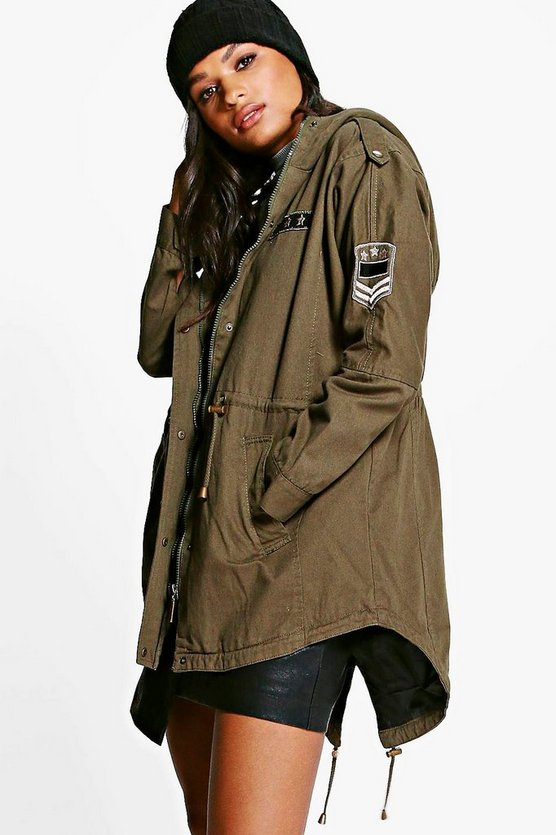 Lottie Oversized Batwing Sleeve Hooded Parka