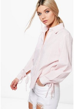 Lola Striped Split Sleeve Shirt