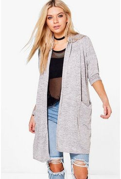 Niamh Long Sleeve Drape Pocket Cardigan