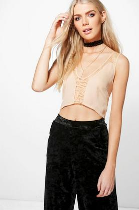Molly Lace Insert Woven Bralet