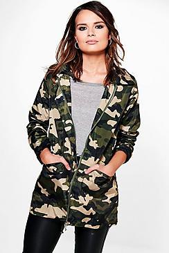 Lucy Camo Hooded Jacket