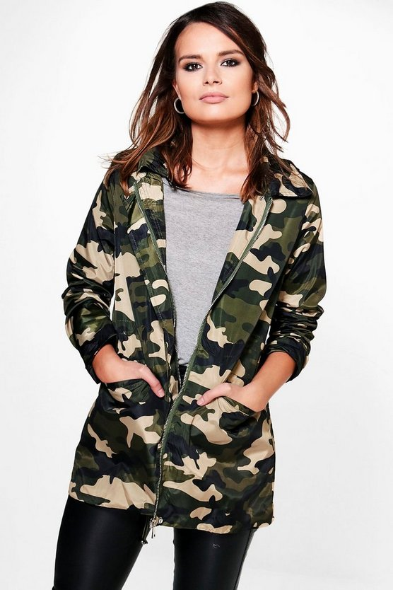 Lucy Camo Hooded Jacket