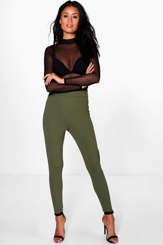 Extreme High Waist Super Skinny Trousers  khaki