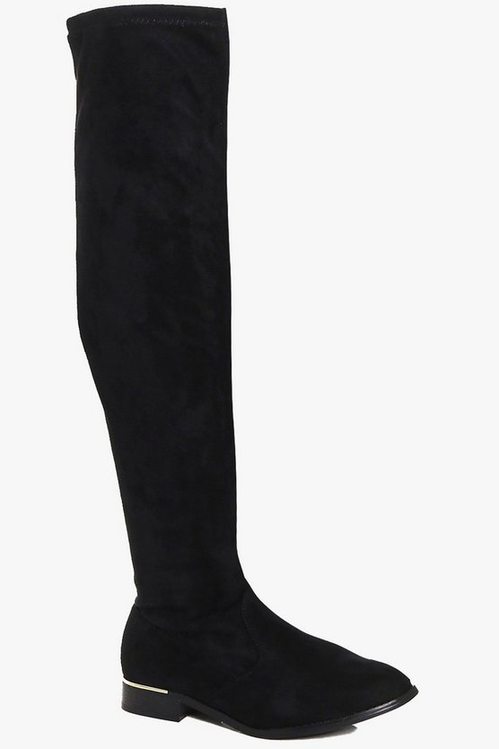 Lilly Stretch Over The Knee Flat Boot