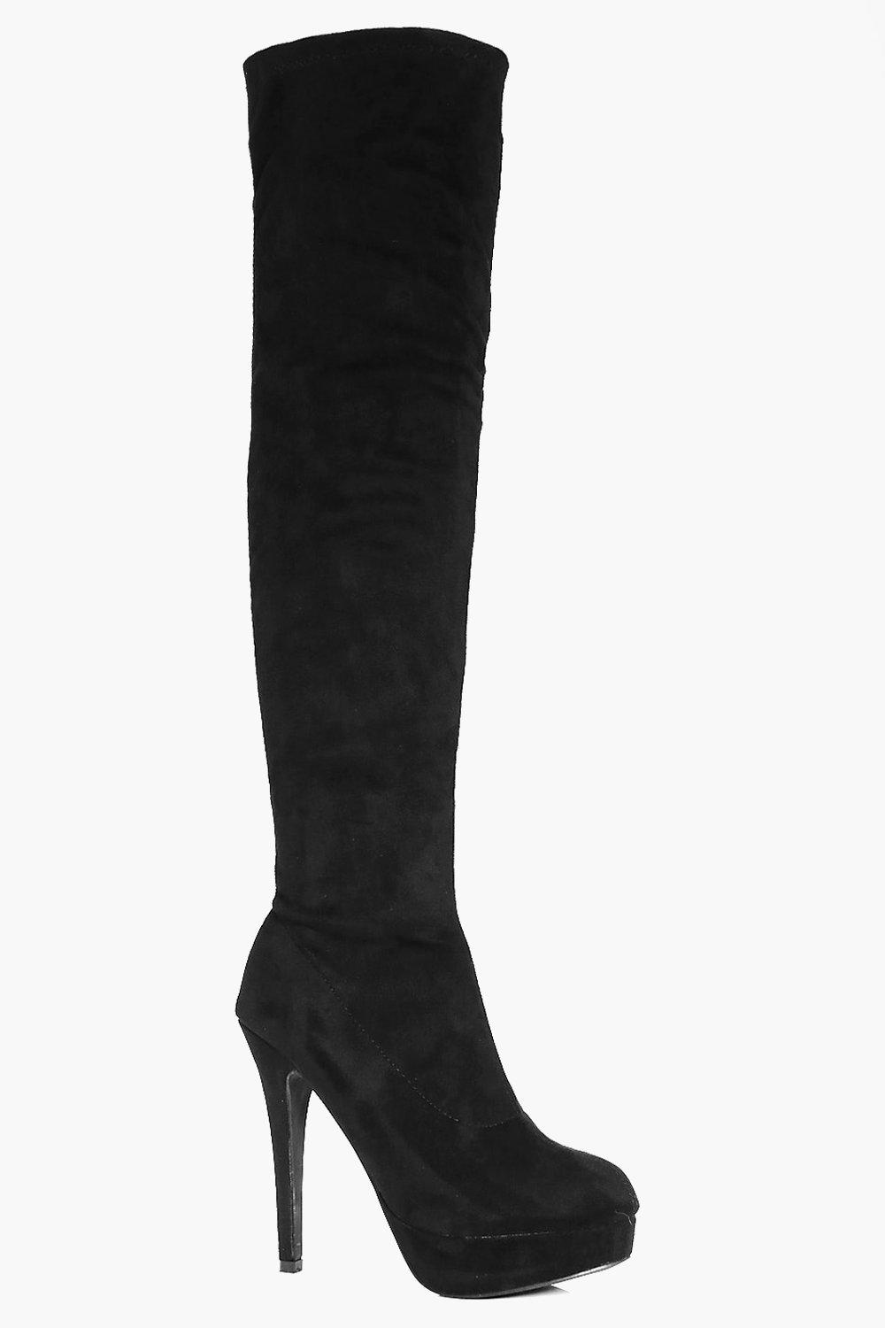 Betsy Platform Heeled Over The Knee Boot