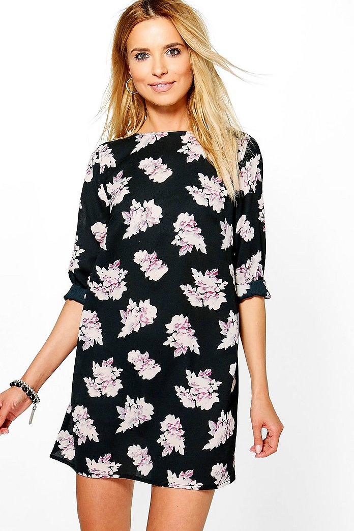 Tasha Floral Long Sleeved Shift Dress