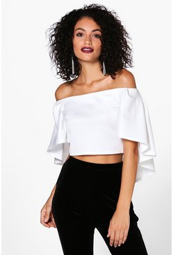 Arabella Off The Shoulder Cape Crop