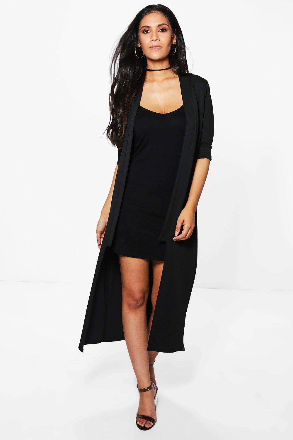 Poppy Step Collar Longline Duster